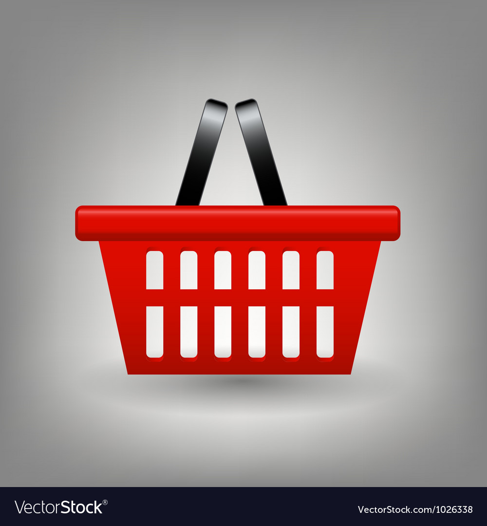 Red shopping basket icon vector | Price: 1 Credit (USD $1)