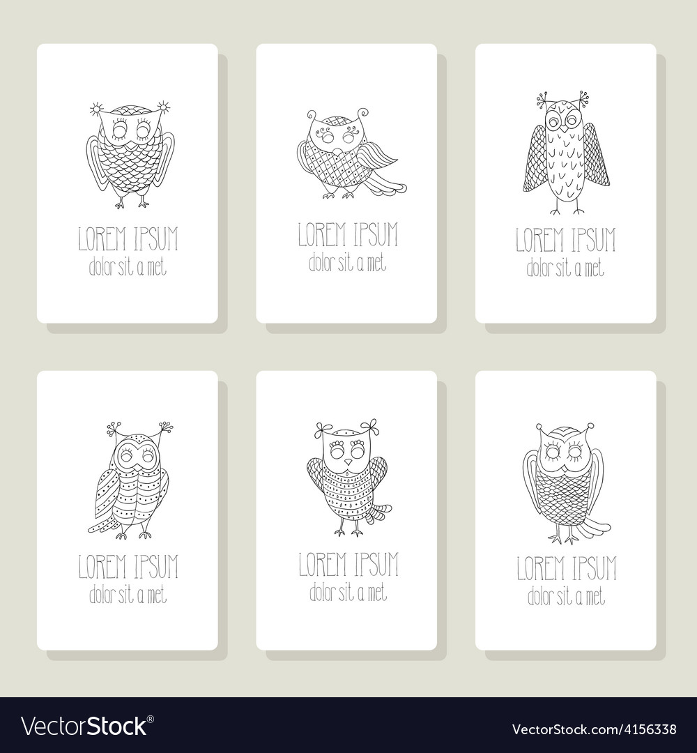 Set of cards invitation with hand drawn vector | Price: 1 Credit (USD $1)