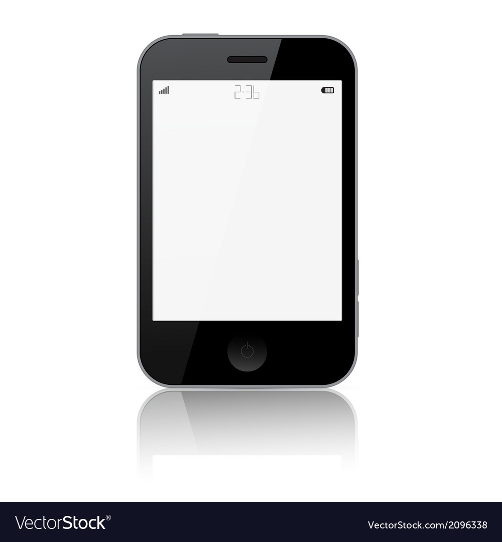Smartphone isolated on white background vector | Price: 1 Credit (USD $1)