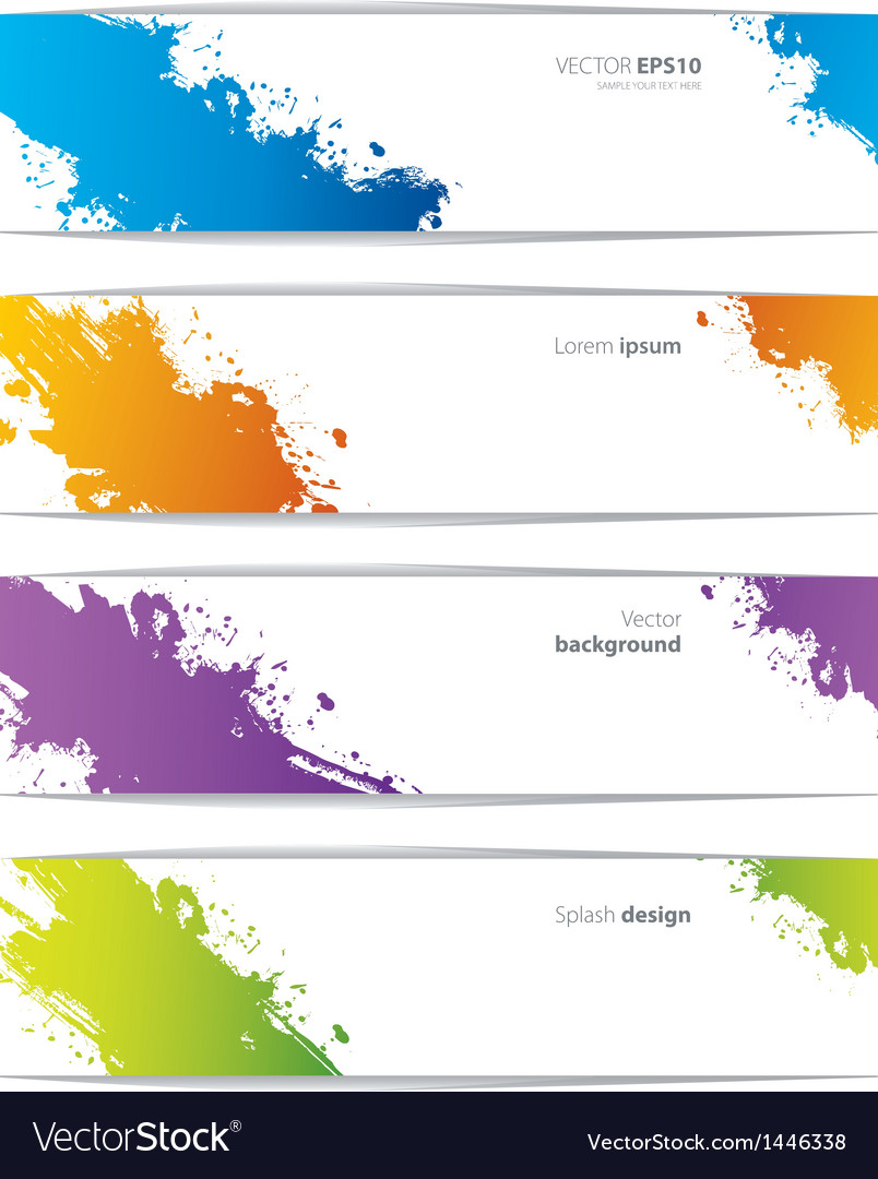 Splash banners vector | Price: 1 Credit (USD $1)