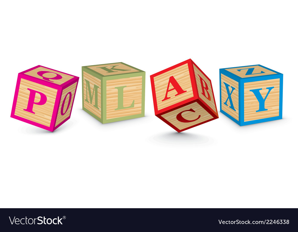 Word play written with alphabet blocks vector | Price: 1 Credit (USD $1)