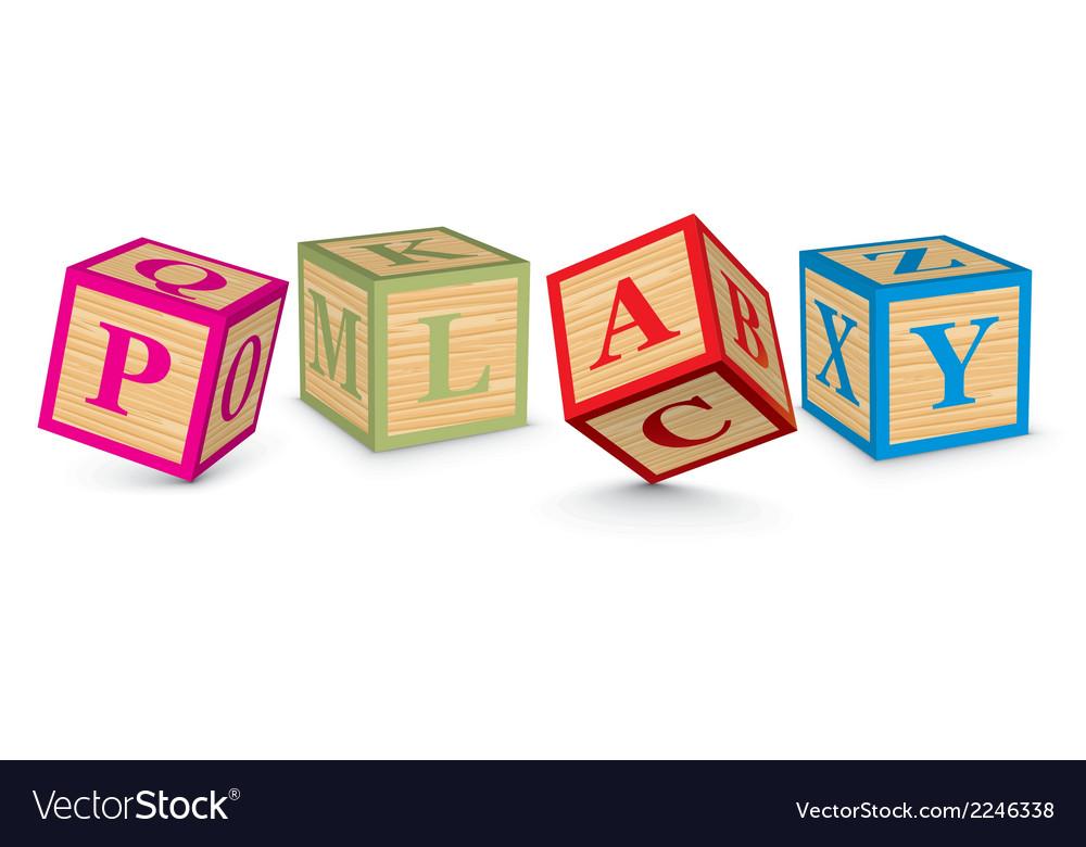 Word play written with alphabet blocks vector | Price: 1 Credit (USD $1)