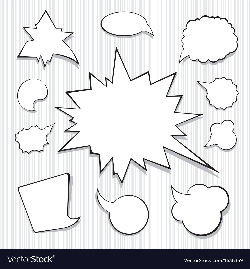 A collection of comic style speech bubbles vector | Price: 1 Credit (USD $1)