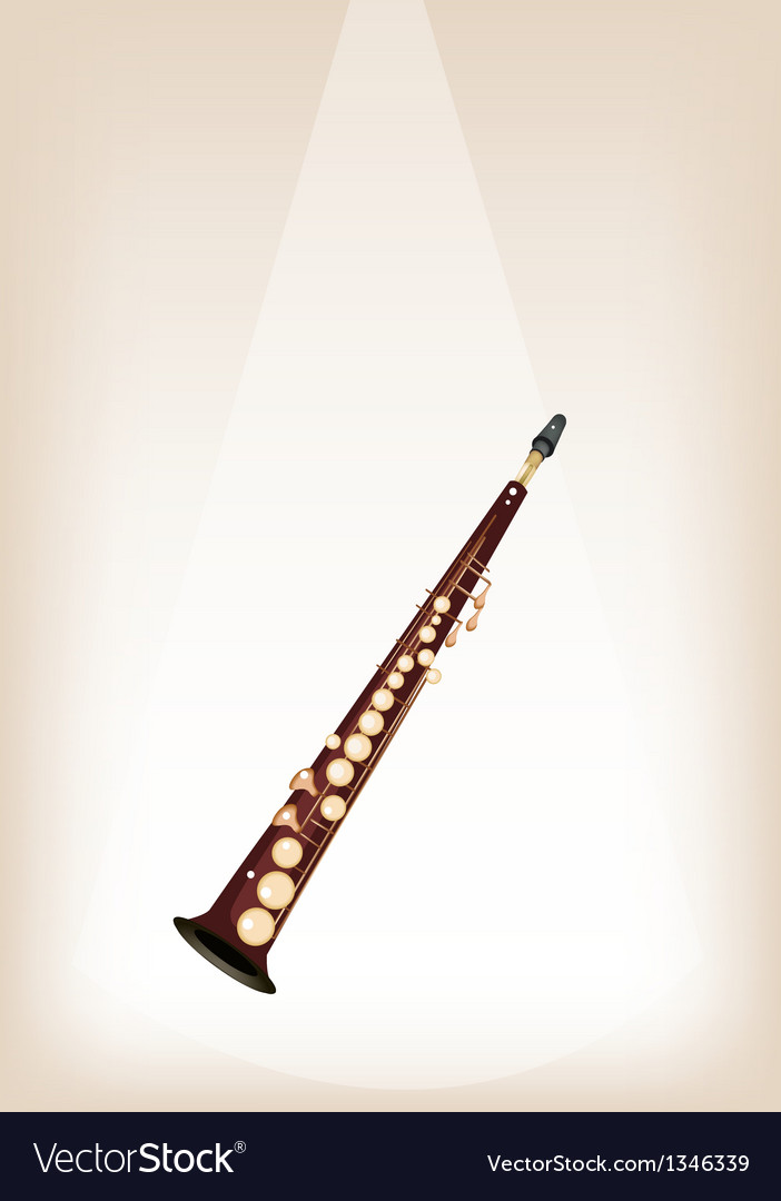A musical soprano saxophone on stage background vector | Price: 1 Credit (USD $1)