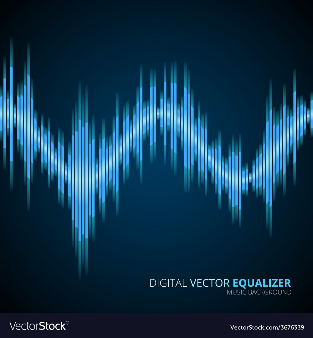 Blue sound wave vector | Price: 1 Credit (USD $1)