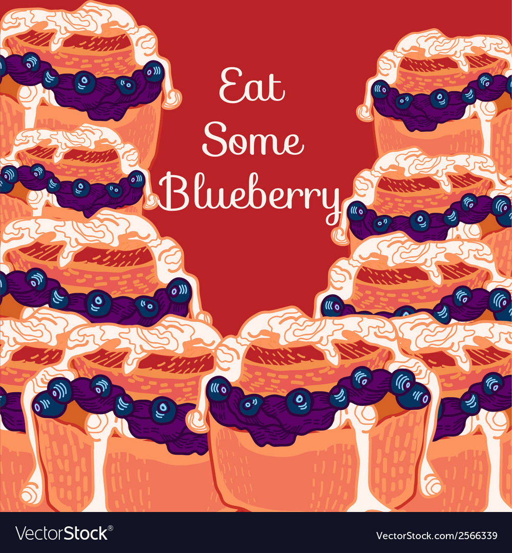 Blueberry muffin with jam vector | Price: 1 Credit (USD $1)