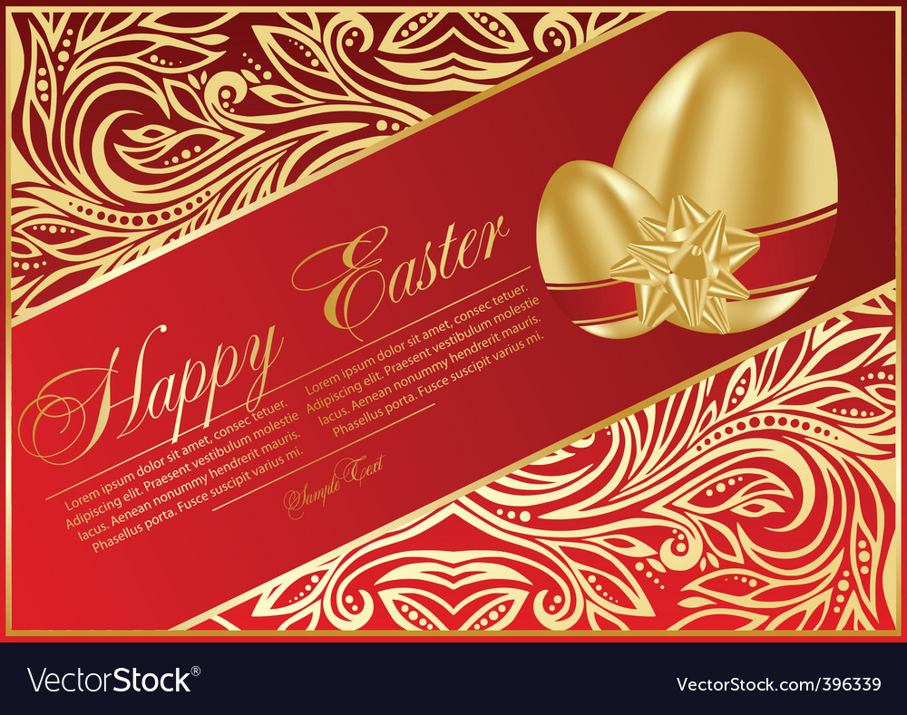 Easter eggs with bows vector | Price: 1 Credit (USD $1)