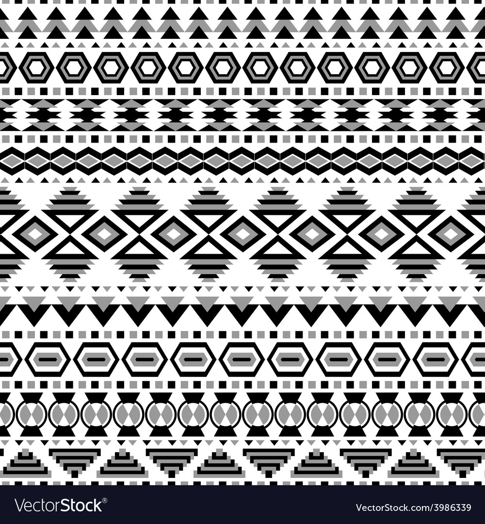 Ethnic striped seamless pattern vector | Price: 1 Credit (USD $1)