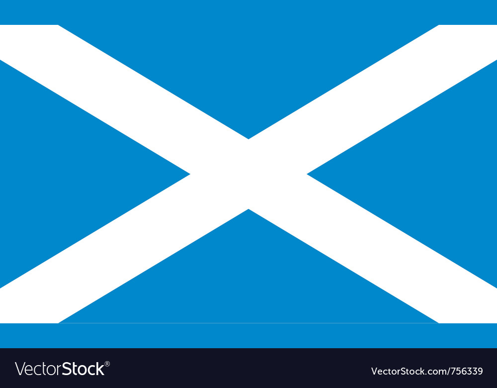 Flag of scotland vector | Price: 1 Credit (USD $1)