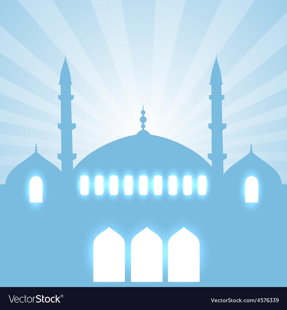 Glowing mosque design vector   Price: 1 Credit (USD $1)