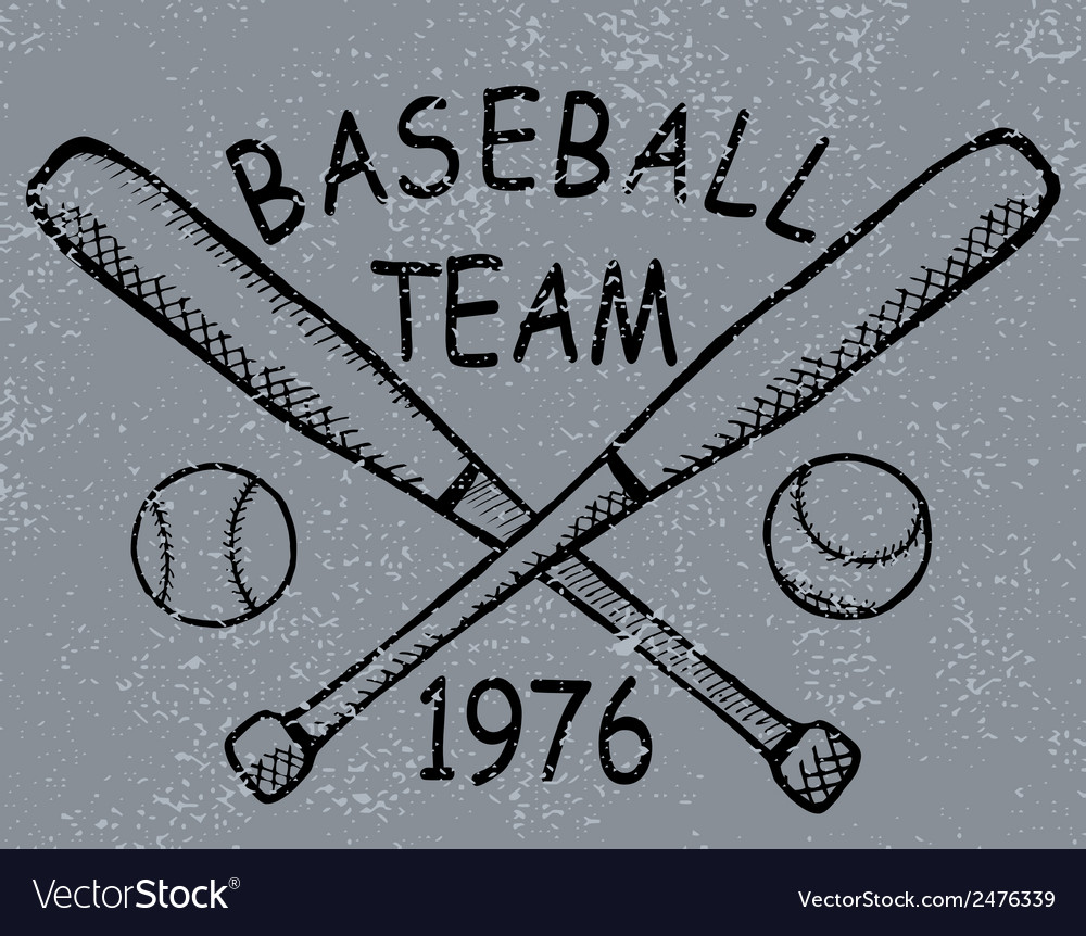 Grunge baseball design t-shirt printing vector | Price: 1 Credit (USD $1)