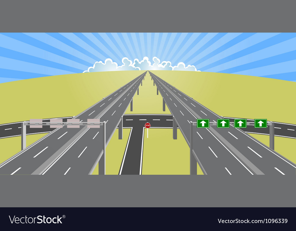 Highway to horizon vector | Price: 1 Credit (USD $1)