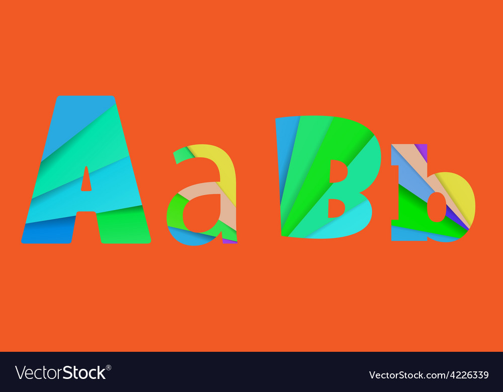 Inner shadow font ab alphabet design full color vector   Price: 1 Credit (USD $1)