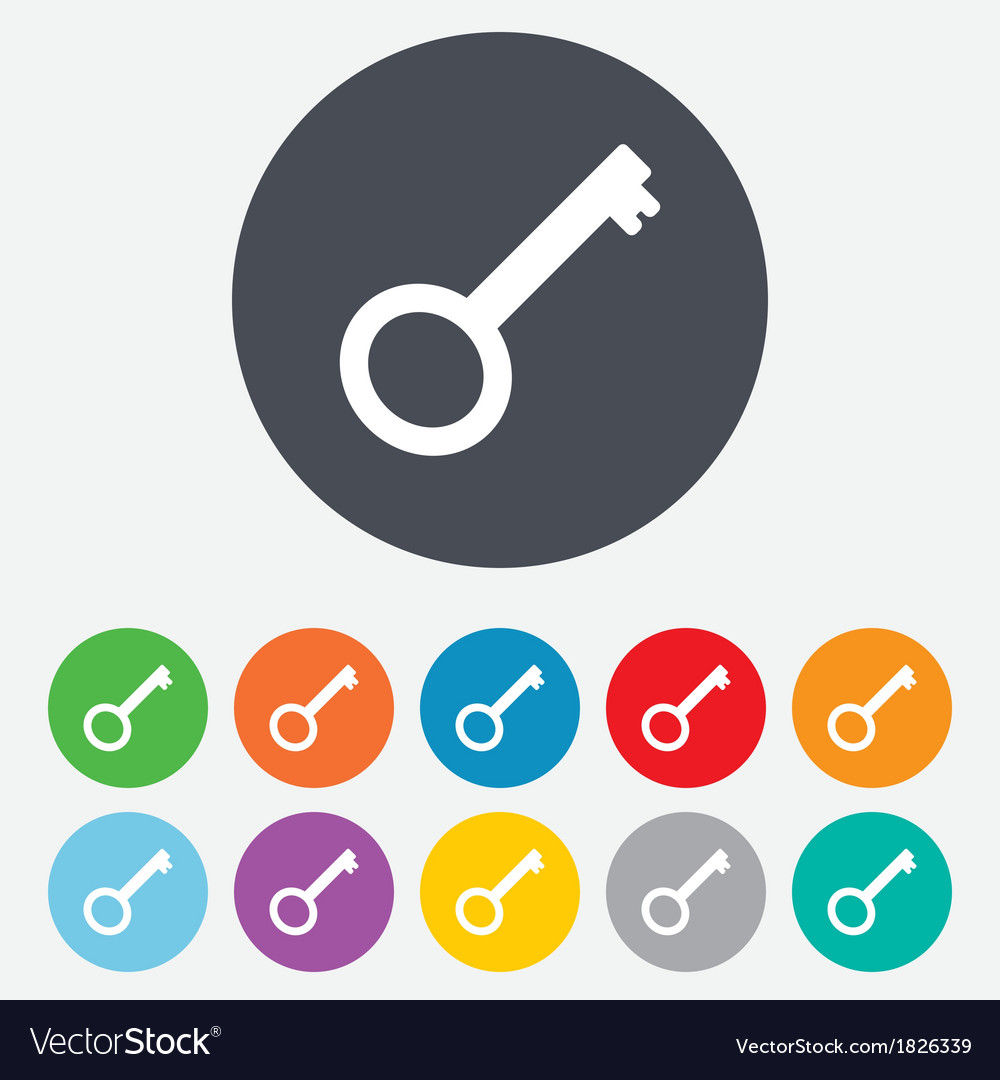 Key sign icon unlock tool symbol vector | Price: 1 Credit (USD $1)