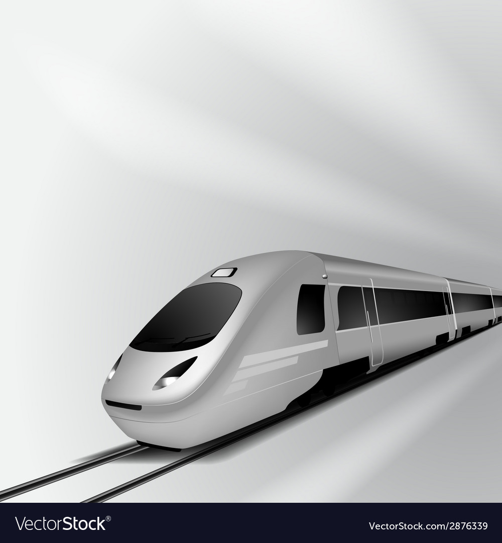 Modern high speed train 2 vector | Price: 1 Credit (USD $1)