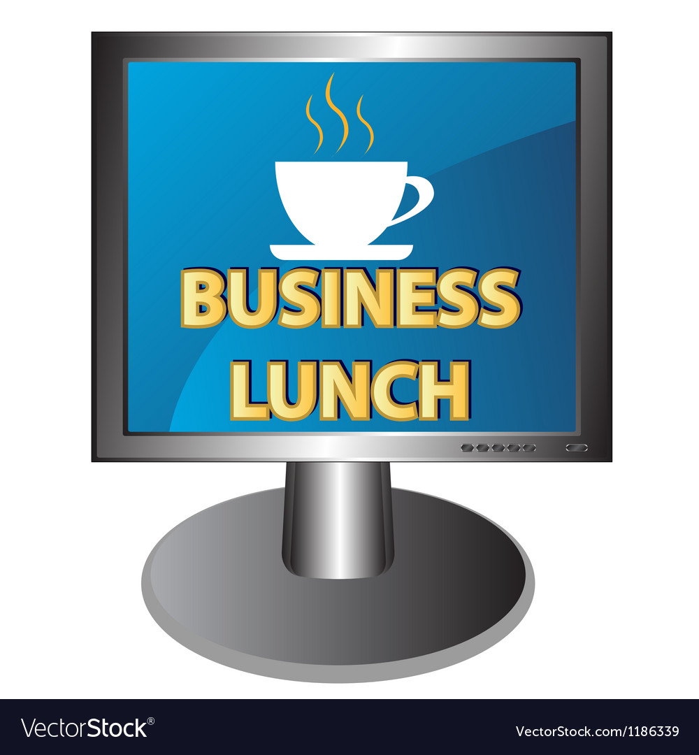 New business lunch icon vector | Price: 1 Credit (USD $1)