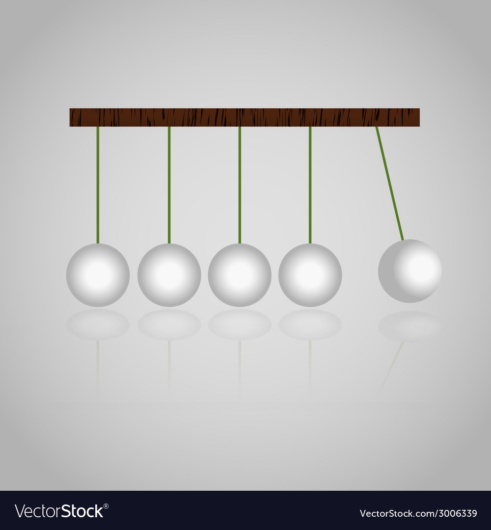 Physics mechanics kinetics balls set eps10 vector | Price: 1 Credit (USD $1)