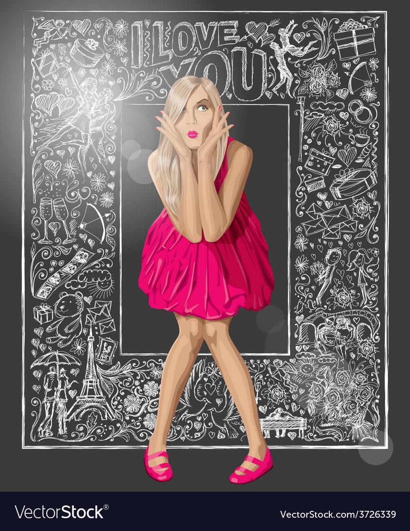 Pink vector | Price: 1 Credit (USD $1)