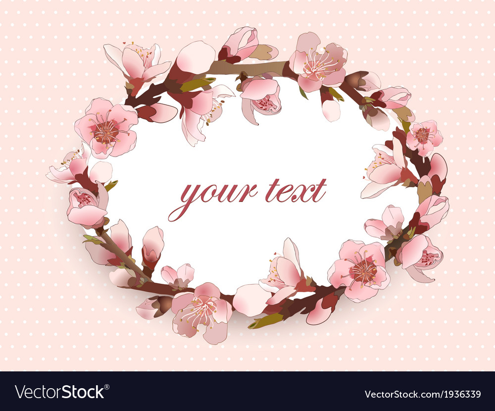 Seamless pattern with blossoming pink flowers vector | Price: 1 Credit (USD $1)