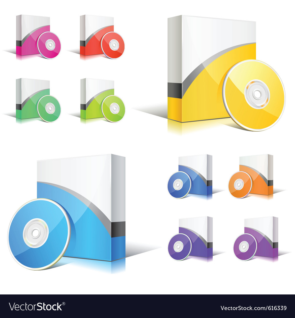 Software boxes vector | Price: 1 Credit (USD $1)
