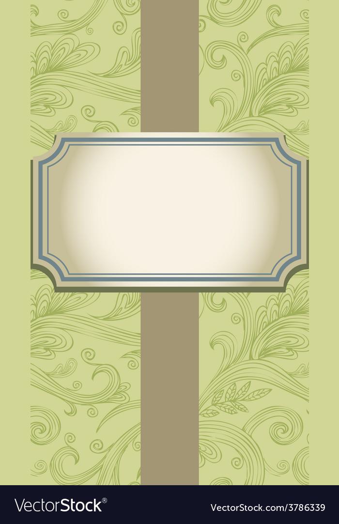 Template frame design for invitation vector | Price: 1 Credit (USD $1)