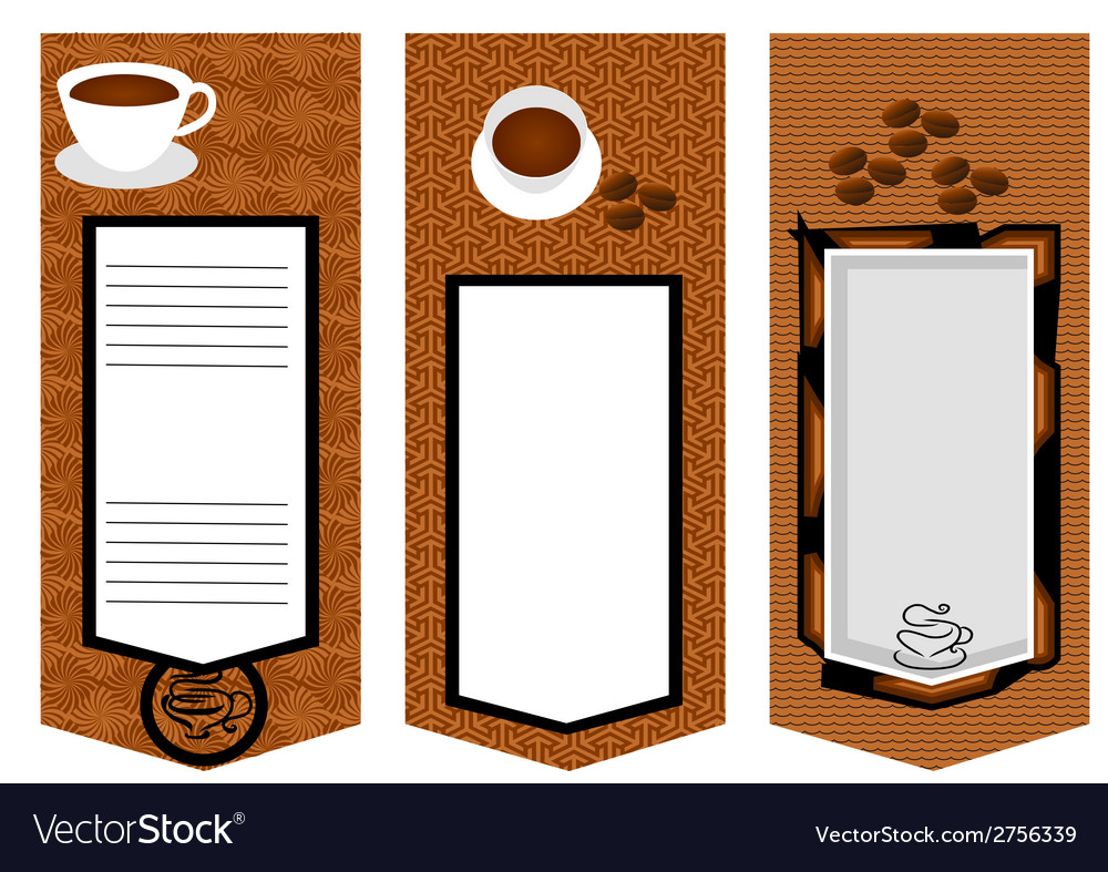 Three coffee menu card vector | Price: 1 Credit (USD $1)