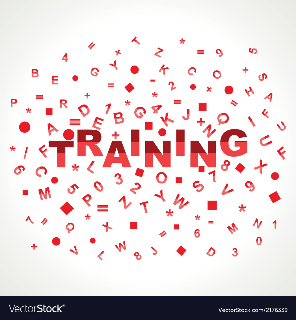 Training word with in alphabets vector | Price: 1 Credit (USD $1)