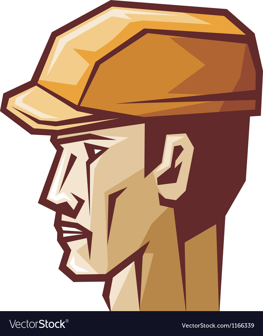 Worker head profile vector | Price: 1 Credit (USD $1)