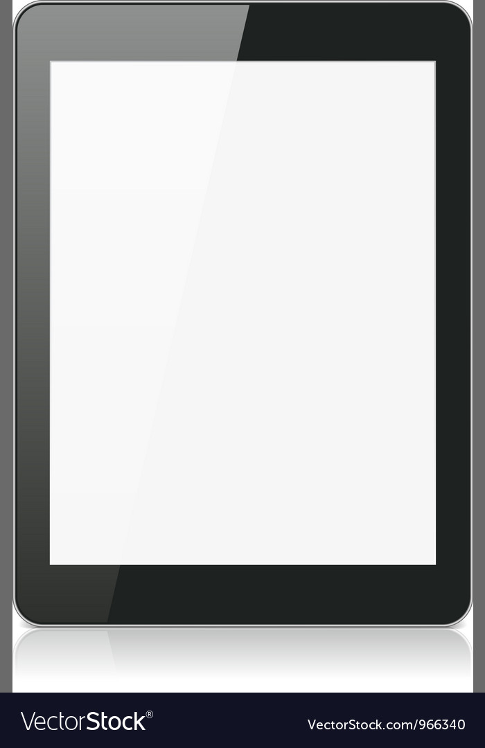 Black tablet computer or reader vector | Price: 1 Credit (USD $1)
