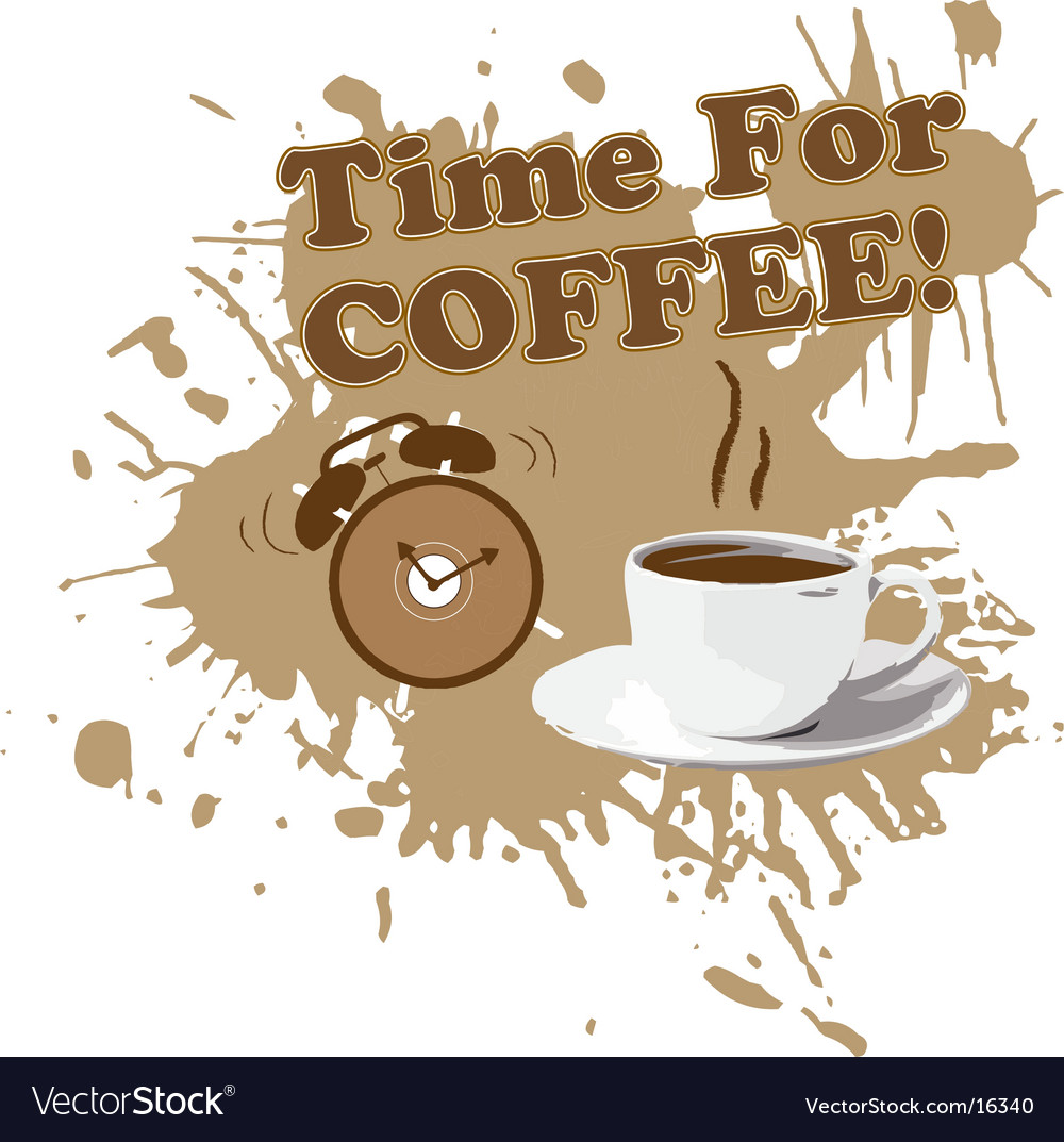 Coffee cup with alarm clock vector | Price: 1 Credit (USD $1)