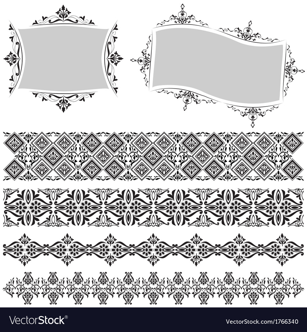 Elegant border and frame vector | Price: 1 Credit (USD $1)