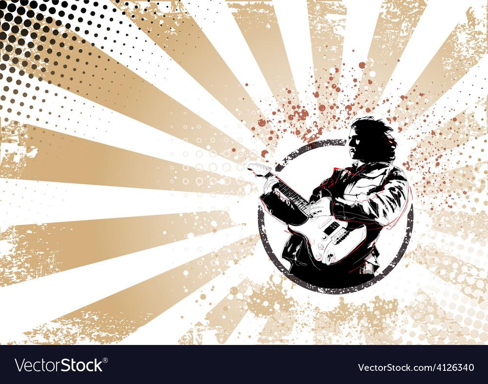 Guitarist poster vector | Price: 3 Credit (USD $3)