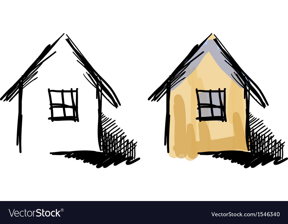 House sketches vector | Price: 1 Credit (USD $1)