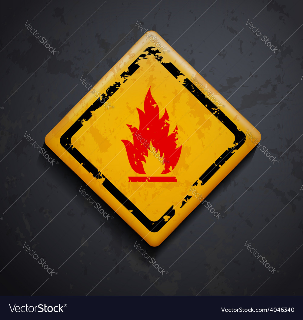 Metal sign fire vector | Price: 1 Credit (USD $1)