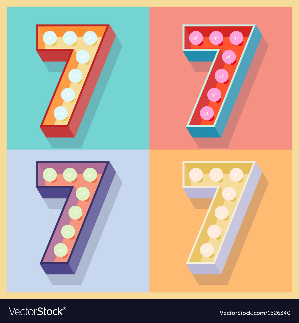 Number 7 vector | Price: 1 Credit (USD $1)