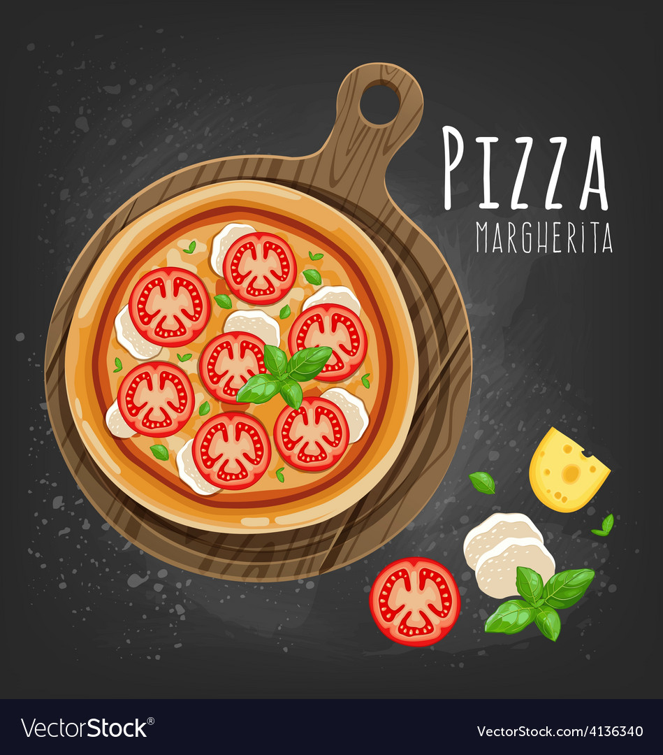 Pizza margherita vector
