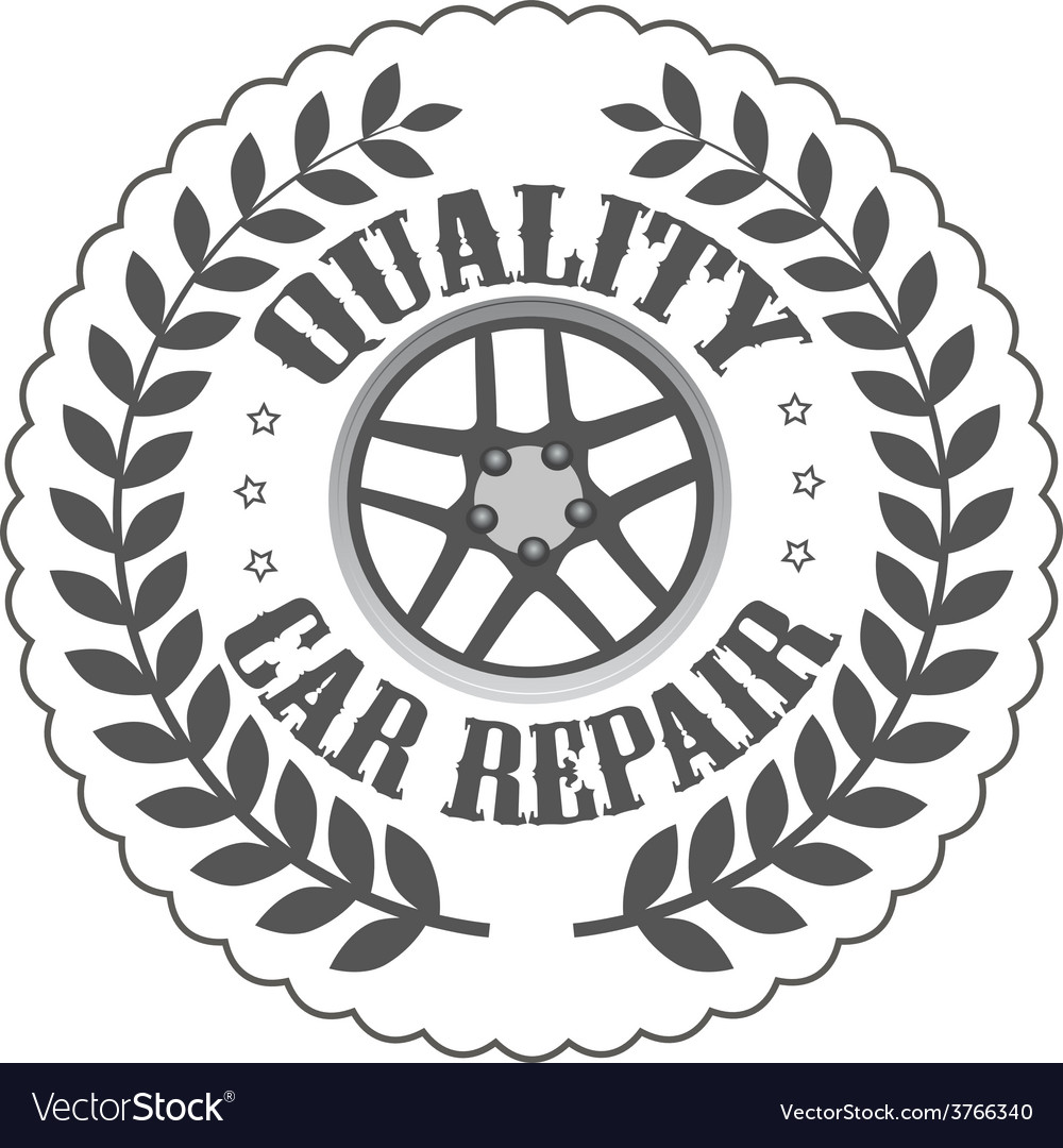 Quality car repair vector | Price: 1 Credit (USD $1)