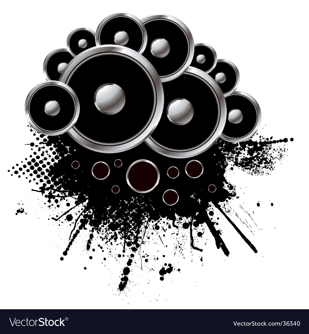 Speaker grunge vector | Price: 1 Credit (USD $1)