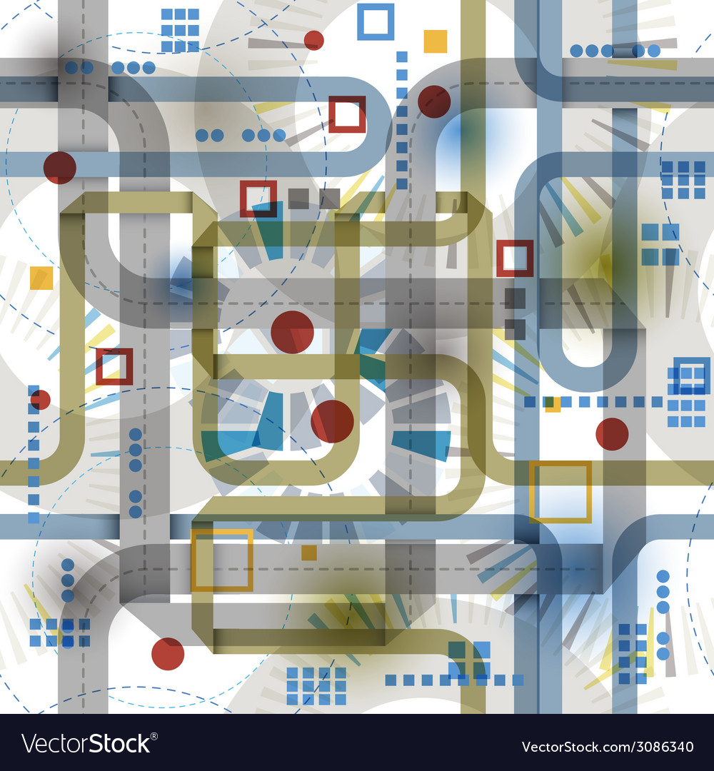 Techno style seamless background seamless pattern vector | Price: 1 Credit (USD $1)