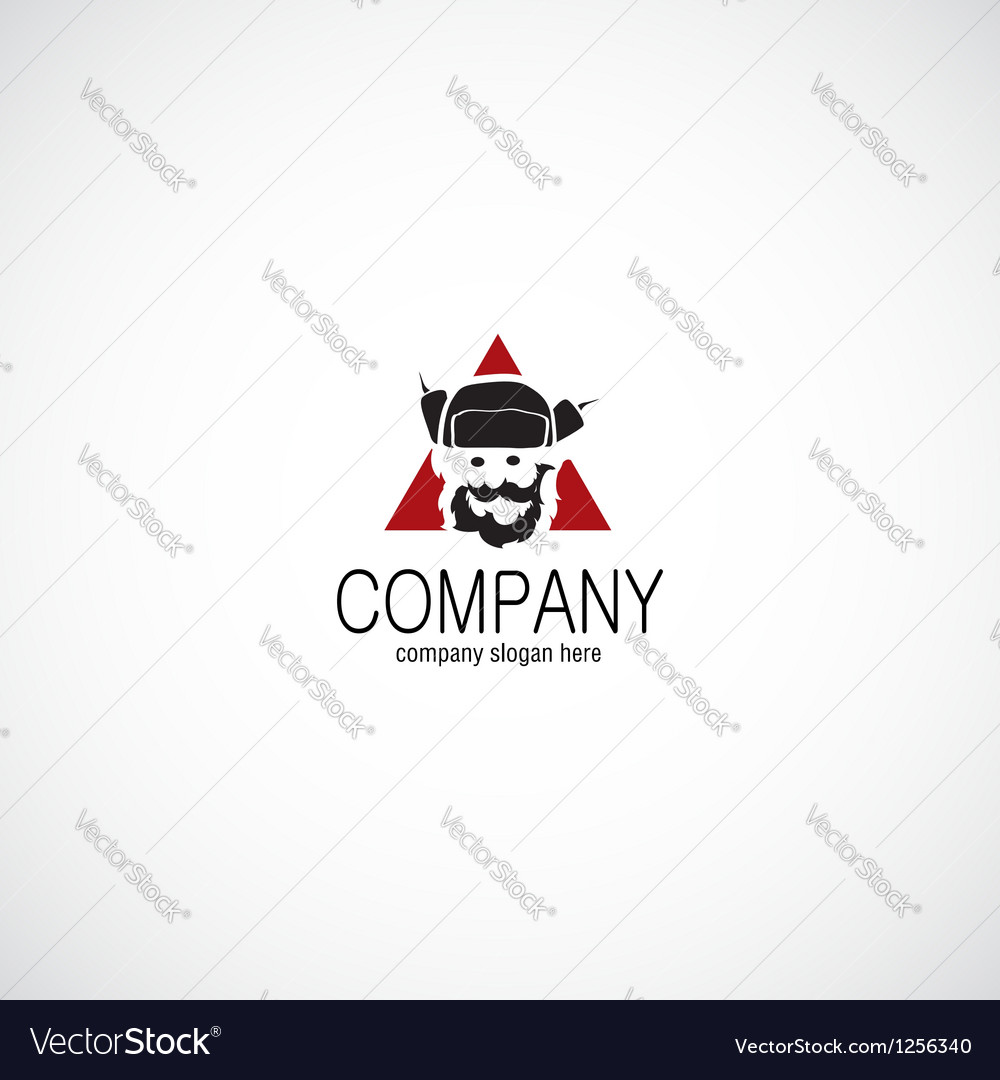 Ushanka man company logo vector | Price: 1 Credit (USD $1)