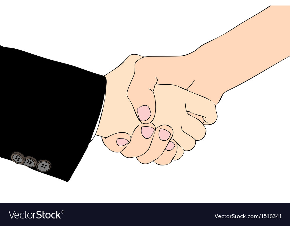 A handshake for a good agreement vector | Price: 1 Credit (USD $1)