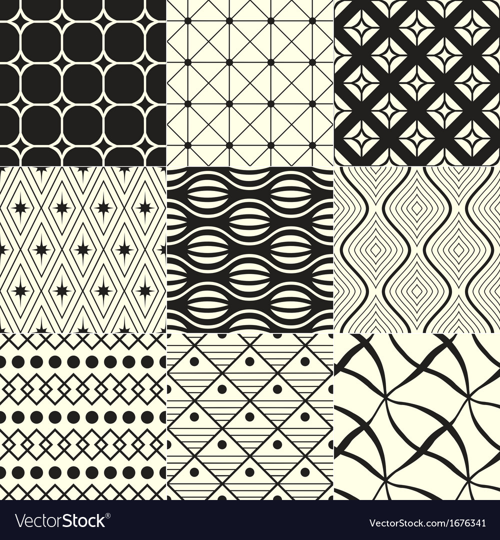 Abstract geometric black and white background vector | Price: 1 Credit (USD $1)
