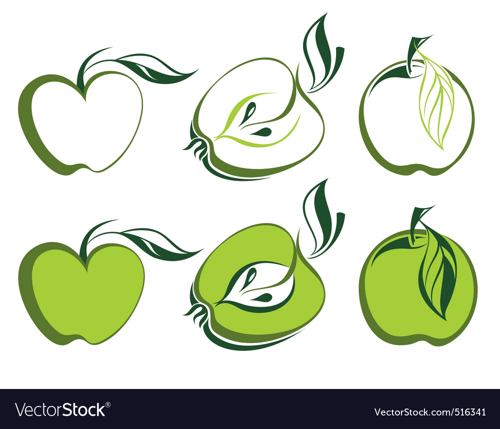 Apple set vector | Price: 1 Credit (USD $1)