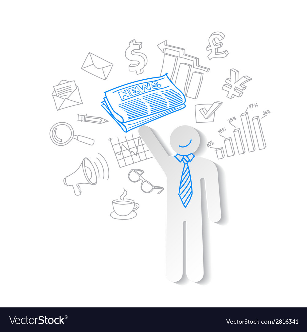 Business news team leader teamwork communication vector | Price: 1 Credit (USD $1)