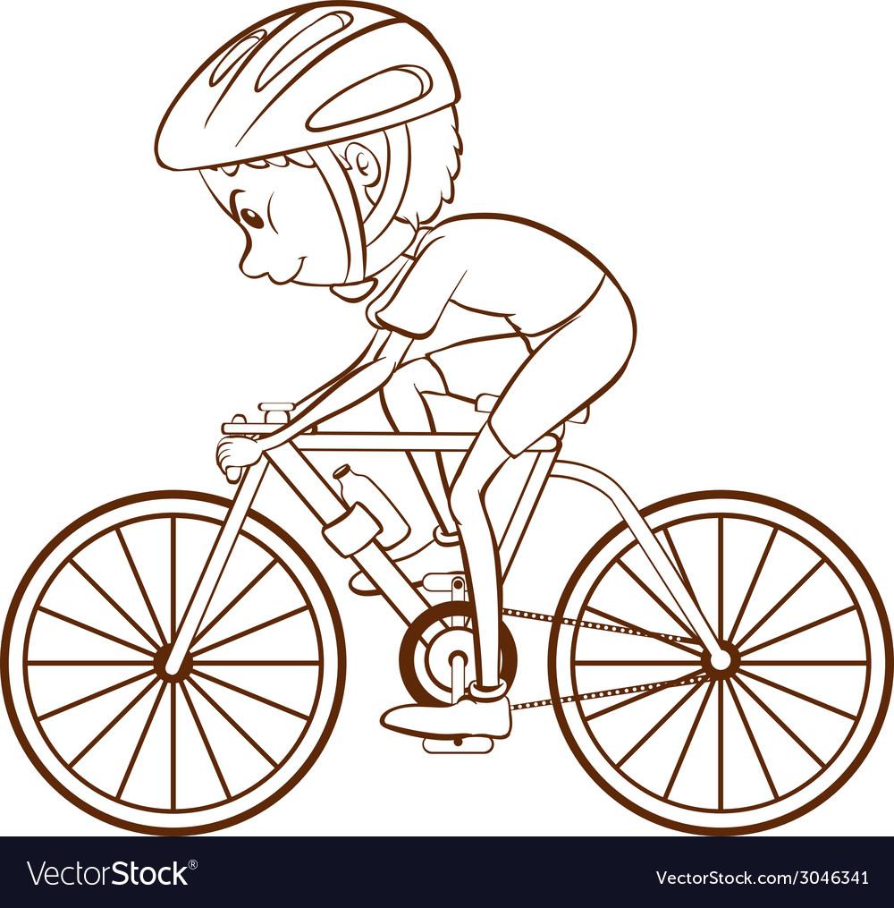 Cyclist vector | Price: 1 Credit (USD $1)