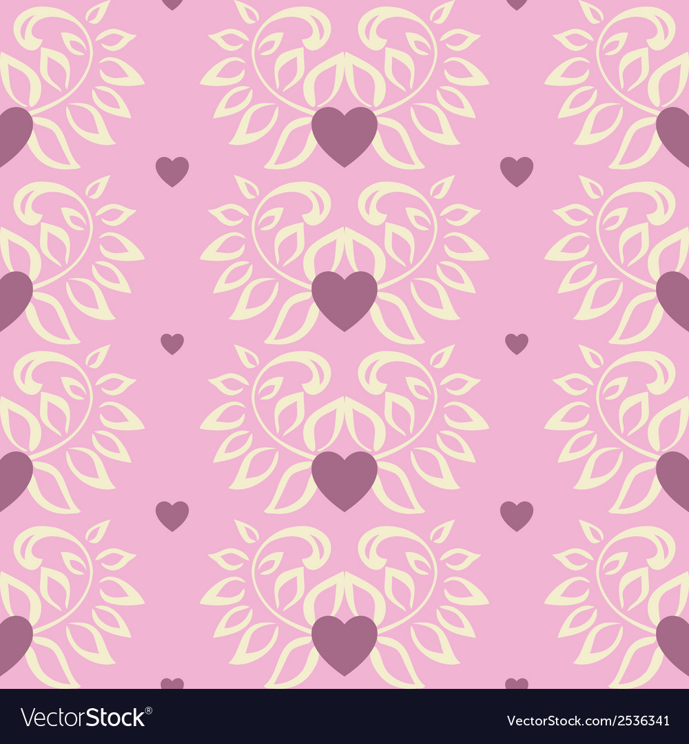 Floral seamless pattern with a leaf vector | Price: 1 Credit (USD $1)