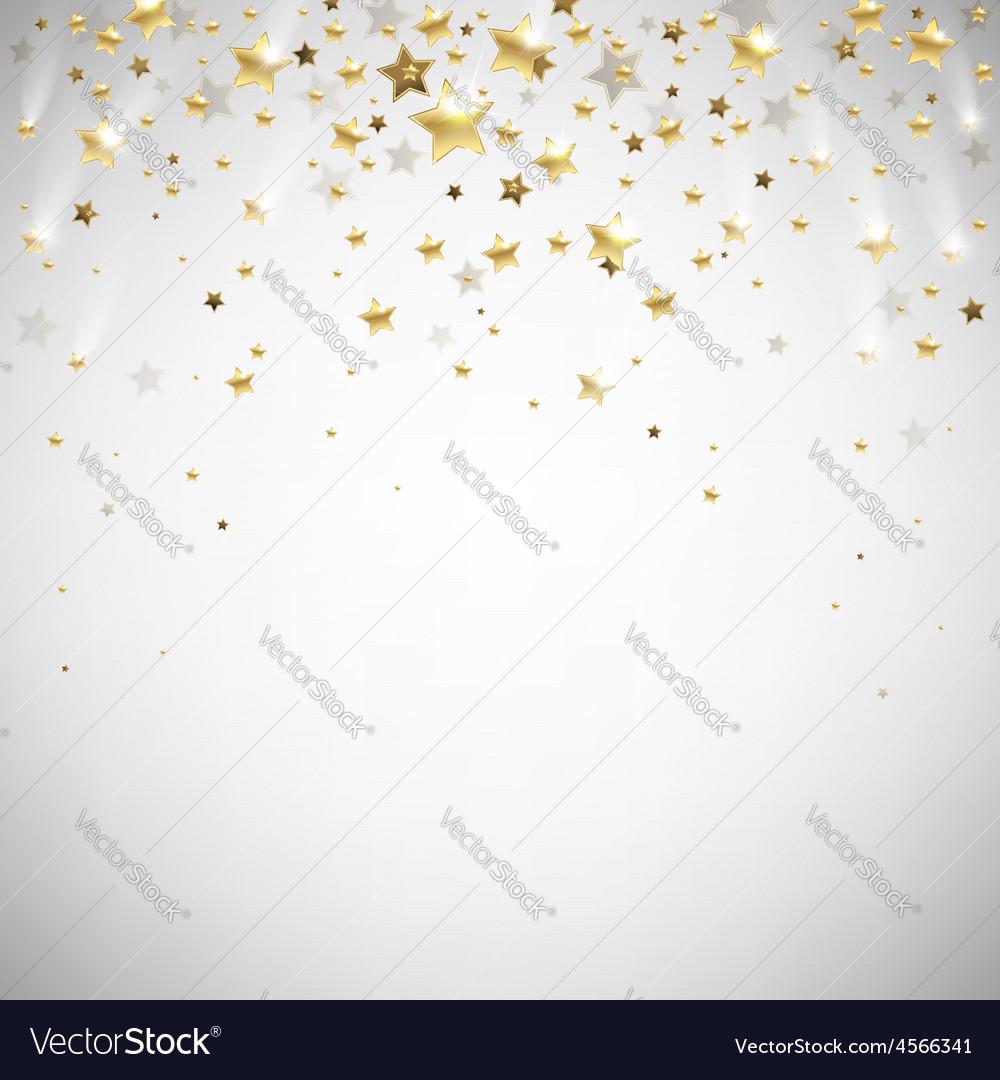 Golden falling stars vector | Price: 1 Credit (USD $1)