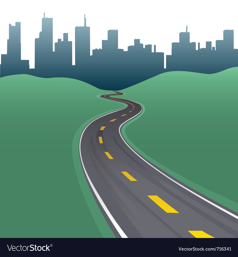 Highway path vector | Price: 1 Credit (USD $1)