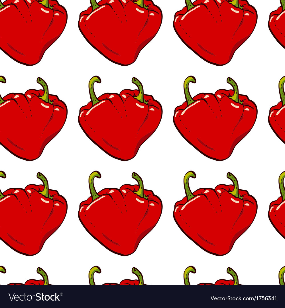 Pepper heart seamless vector | Price: 1 Credit (USD $1)