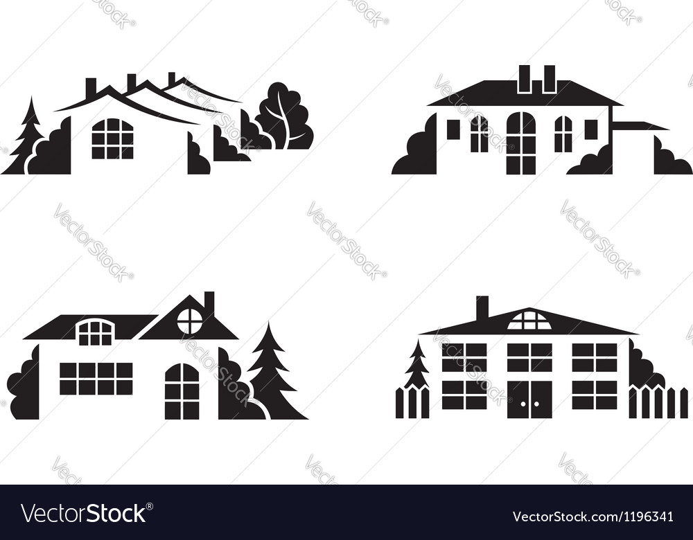 Private houses vector | Price: 1 Credit (USD $1)